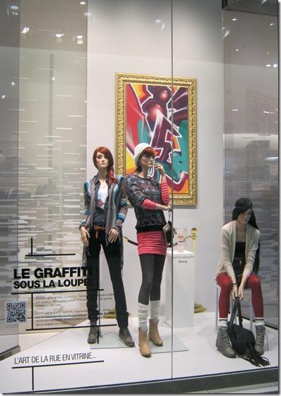 Vitrines maison simons graffiti hip hop art urbain culture design art déco