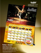 calendrier 2012 hip hop breakdance mural graffiti rap music