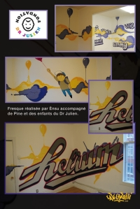 chambres adolescents graffiti murales décoration design