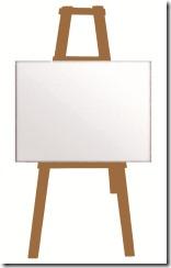 chevalet toile canevas peinture peintre
