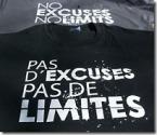 T-Shirts Pas d'excuses... Pas de limites Lazy Legz