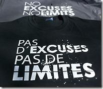 T-Shirts Pas d'excuses Pas de limites Lazy Legz