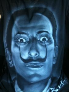 Dali t-shirt graffiti tee-shirt custom affiche estampes airbrush
