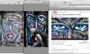 publicité chevrolet sonic zilon underpressure graffiti graffiteur droits d'auteur