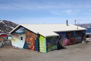 mural Kangiqsujuaq Youth House graffiti grand nord maison des jeunes murales