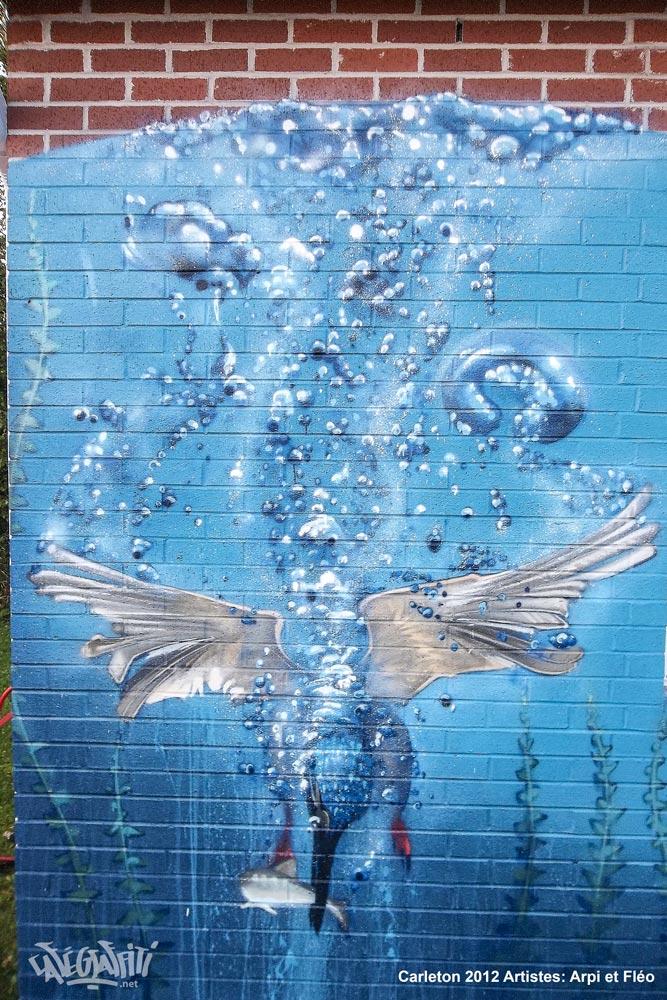 carleton fresque murale maison jeunes gaspesie street art urbain hiphop