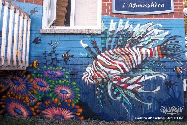 fresque graffiti murale gaspesie carleton street art urbain hiphop