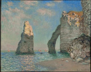 monet falaises artiste peintre art culture