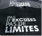 T-Shirts Pas d'excuses... Pas de limites Lazy Legz