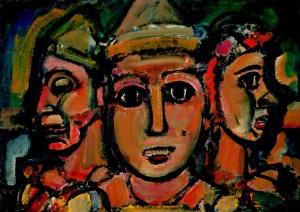 George Rouault, «Les trois clowns», 1928