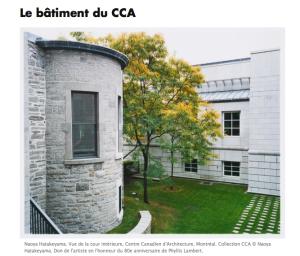 centre canadien architecture cca phyllis lambert urbanisme
