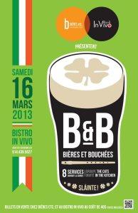 soirée B&B bistro in vivo bières etc