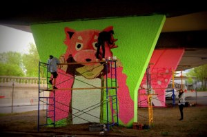 Reuben Peter Finley piliers viaduc Van horne graffiti art urbain