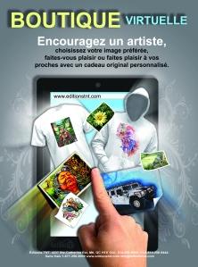 publicité boutique t-shirts cartes voeux carte anniversaire