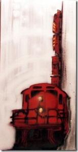 train accident wagon lac mégantic toile graffiti