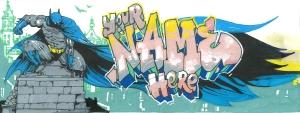 batman murale design chambre d'enfant adolescents ados