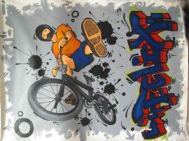 bmx vélo murale design chambre d'enfant adolescents ados