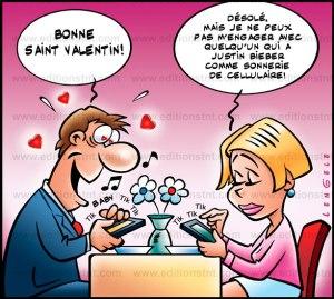 Joyeuses St-Valentin tu es ma Valentine à l'heure du web