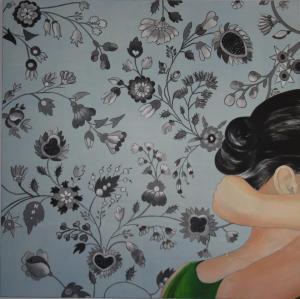 Fabienne Nozerand artiste peintre bistro le Ste-Cath hochelaga-Maisonneuve est de Montréal