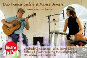 francis leclerc marise demers duo percussions guitare