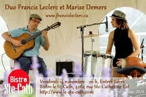 duo francis leclerc marise demers flamenco guitare percussions