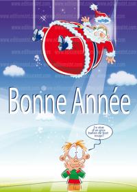 carte-de-voeux-illustration Noël bandes dessinées