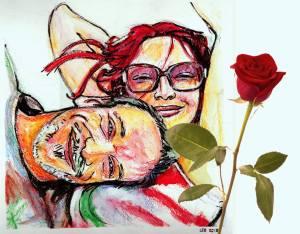 Un portrait et une rose pour la St-Valentin