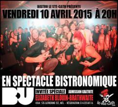 b.u. Élizabeth Blouin Brathwaite souper spectacle show event musique