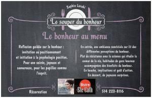le souper du bonheur spectacle bistronomique est montréal restaurant resto où manger