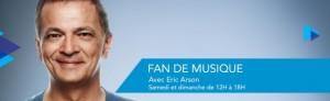 Éric Arson 98,5 fan de musique dj animateur radio