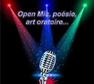open mic art oratoire micro ouvert littérature poésie