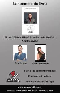 lancement livre jean-simon brisebois auteur poésie