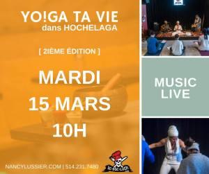 yoga namasté est montréal accompagné de musique hochelaga