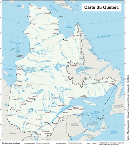 frontières Québec