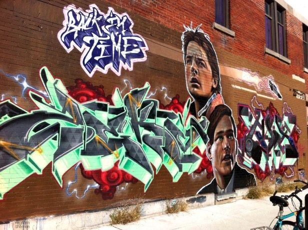 GRAFFITI - murale Back to the future graffiti fresque street art urbain