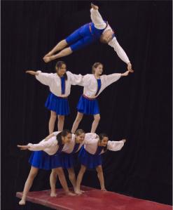 troupe acrobatique gym masters