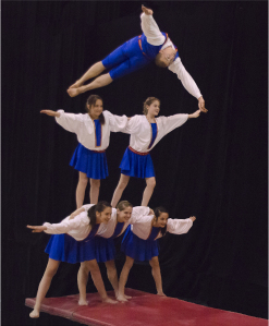 troupe acrobatique gym masters