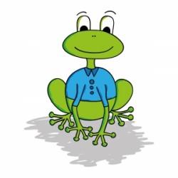 froggie déchirer sa chemise grenouille