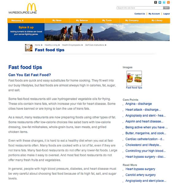 Fast food junk mcdonald mcdo valeur nutritive