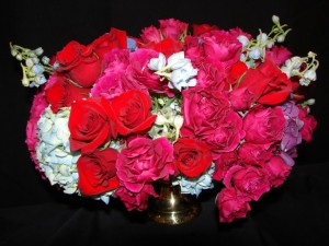 fleurs rose famille relation