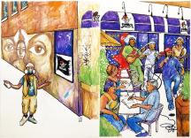 livre littérature graffiti histoire montréal art urbain restaurant spectacle